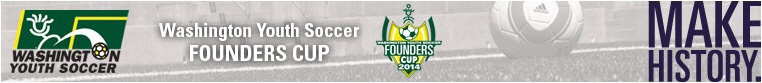 2014 Washington Youth Soccer Founders Cup banner