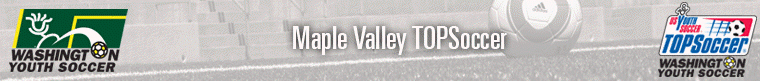 TOPSoccer Maple Valley banner