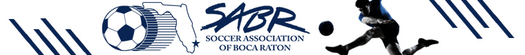 Soccer Association of Boca Raton* banner